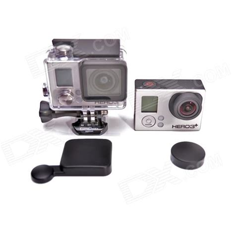 Jual Gopro 4 Black Set a lc3 protective lens cap set for gopro 4 3 black free shipping dealextreme