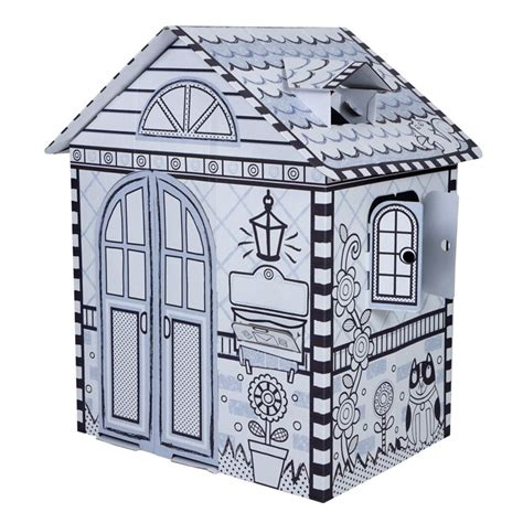 cardboard house to color color a house giant cardboard craft play house educational toys planet
