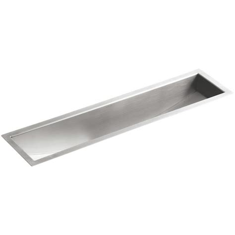 kohler undermount prep sink shop kohler undertone stainless steel undermount