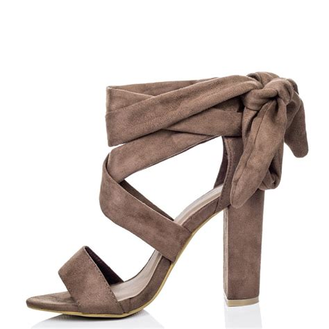 brown heeled sandals elektra brown strappy sandals shoes from spylovebuy
