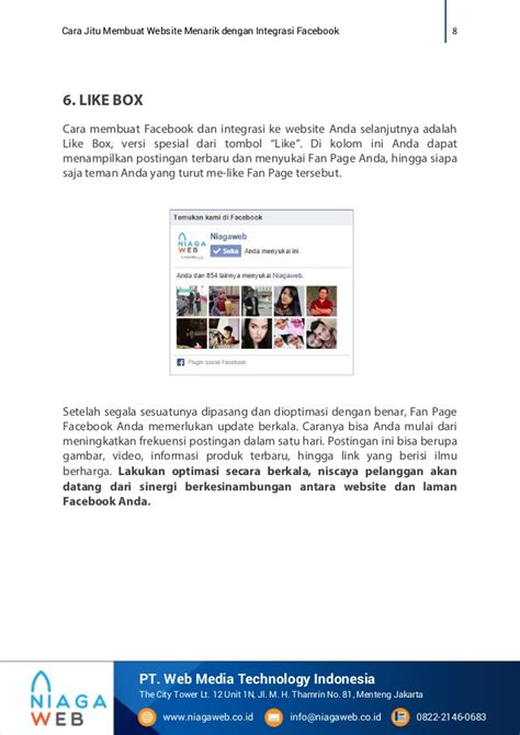membuat web novel cara jitu membuat website menarik dengan integrasi facebook