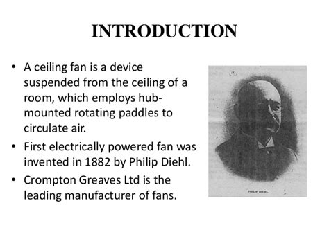 who invented ceiling fan electric fan invented