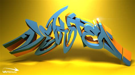imagenes en 3d grafitis graffitis en 3d taringa