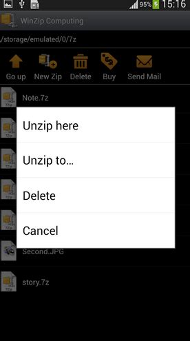unzip files android how to and open zip files on android for unpacking goodies