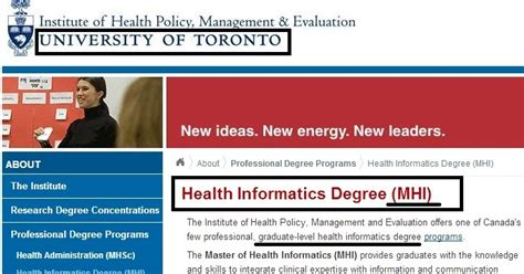 Mba Health Informatics by Gerry In Mba Ryerson Ted Rogers