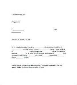 mortgage template 8 mortgage promissory note free sle exle format