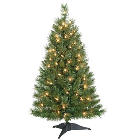 holiday time pre lit 3 pine artificial christmas tree