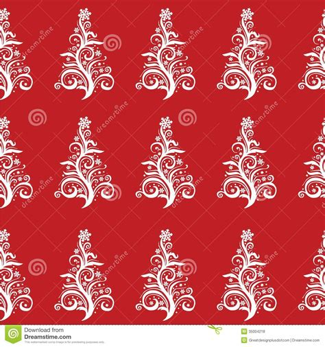 seamless christmas pattern vector seamless christmas tree pattern vector eps10 stock vector
