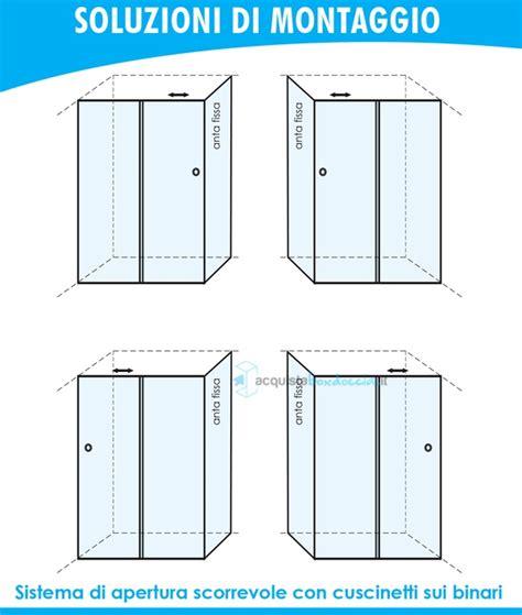 piatto doccia 60 x 100 box doccia angolare anta fissa porta scorrevole 60x100 cm