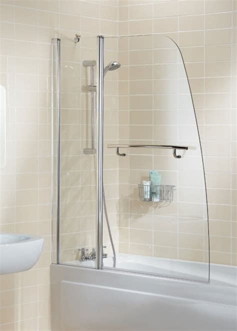 Lakes Classic Silver 1175mm Sail Double Panel Bath Shower Bathroom Shower Screens