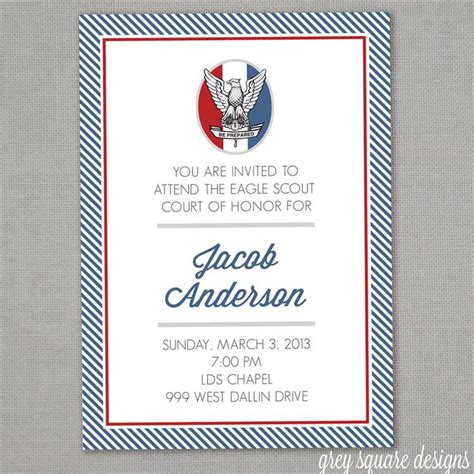 68 Best Scouts Eagle Scout Invitations Images On Pinterest Boy Scouting Boy Scouts And Scouts Eagle Scout Announcement Templates