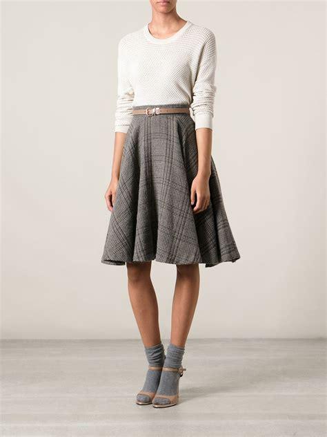 A Line Plaid Skirt a line plaid skirt redskirtz