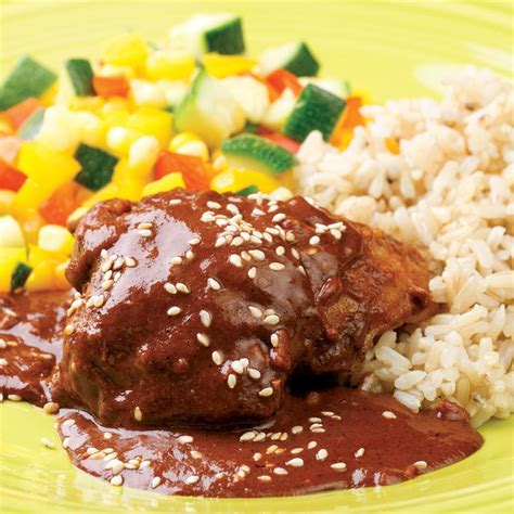 chicken with quick mole sauce recipe eatingwell