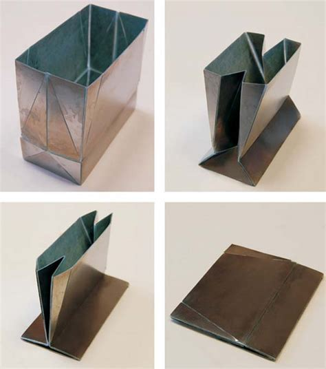 Engineering Origami - origami engineering grocery bags in steel designbuzz