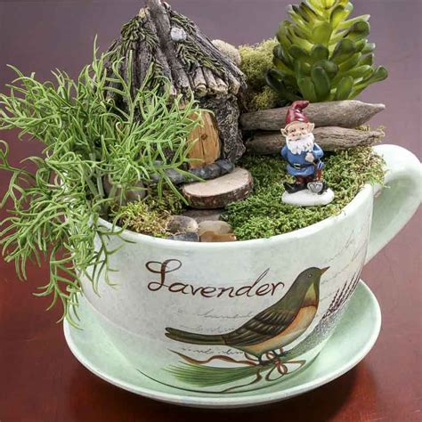 Tea Cup And Saucer Planter by Quot Lavender Quot Tea Cup And Saucer Flower Planter What S New