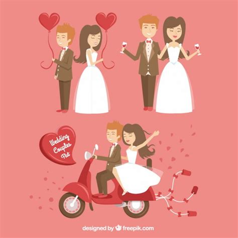 Happy Wedding by Happy Wedding Couples Vector Premium