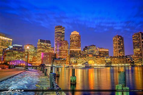 boston massachusetts downtown city buildings harborwalk