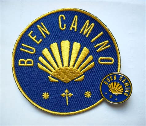camino pilgrim camino de santiago buen camino pilgrim cloth patch and pin
