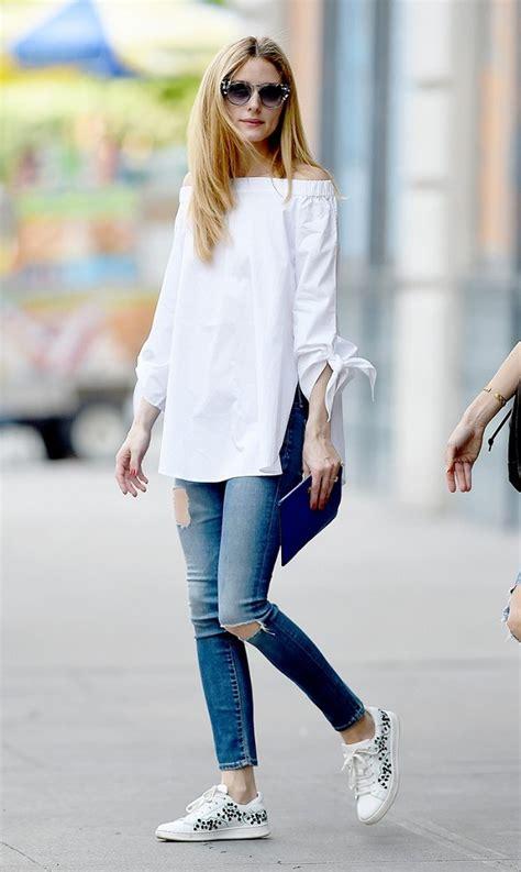 ideas  usar tus jeans rasgados como olivia palermo
