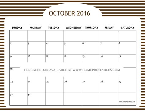 free printable planner 2016 october free printable october 2016 calendar cute designs home