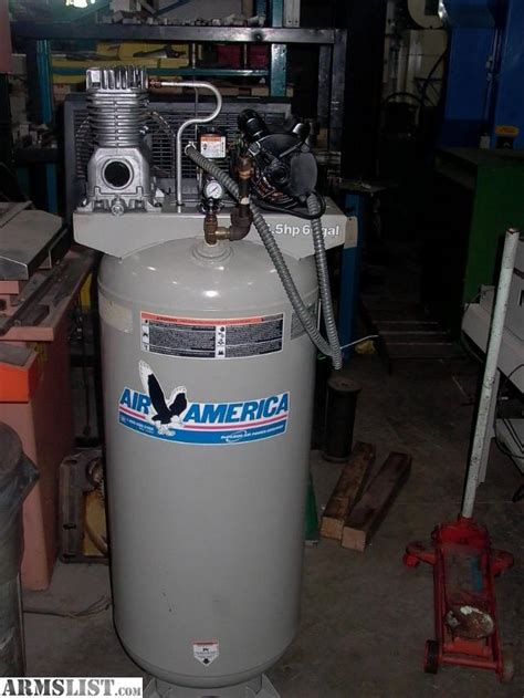 armslist for sale air america 6 5hp 80 gallon 220v air compressor