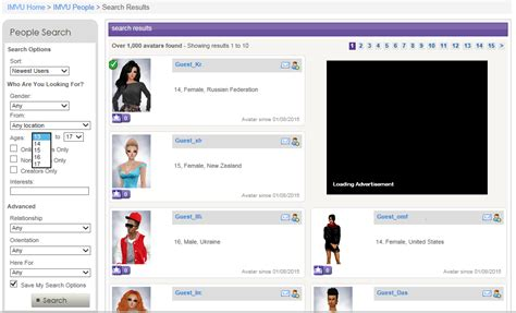 age chat rooms imvu soup du jour underage users in chat rooms