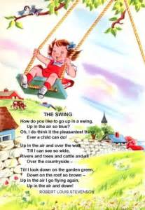 the swing poem by robert louis stevenson the swing a singable picture book sing books with emily