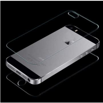 Iphone 5 5s Glass Pro Tempered Glass Front Back Antigores front back gorilla glass tempered screen protector for