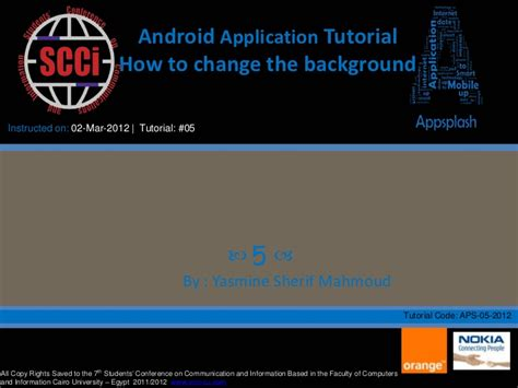 tutorial android ppt android application how to change the background tutorial 3