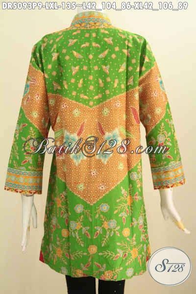Istimewa Pakaian Wanita Dress Mimi pakaian batik dress nan istimewa baju kerja bahan batik printing model kerah shanghai asli dari