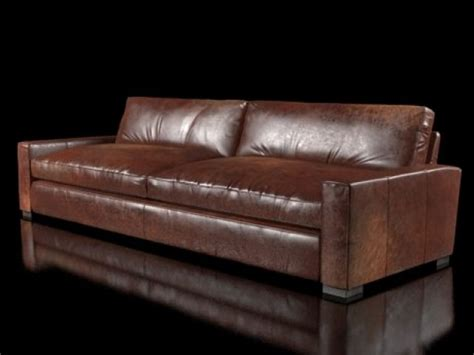 10 Maxwell Leather Sofa 3d Model Restoration Hardware Maxwell Leather Sofa