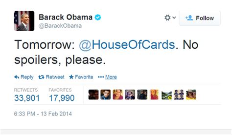 obama house of cards president obama hopes you won t spoil house of cards for him