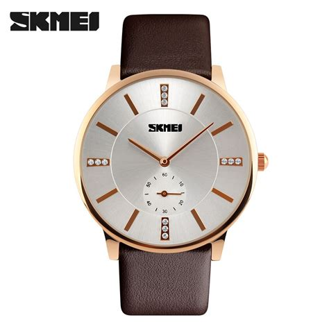Jam Tangan The Unisex Ab1607 Brown List Gold Plat Black skmei jam tangan analog pria 1168cl brown gold jakartanotebook
