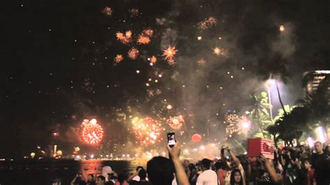 new year 2016 date thailand new year s fireworks above pattaya thailand thai