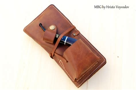 Personalized Pouch personalized leather pipe tobacco pouch pipe roll leather