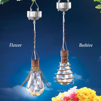 Solar Decorative Hanging Lights From Collections Etc Decorative Hanging Solar Lights