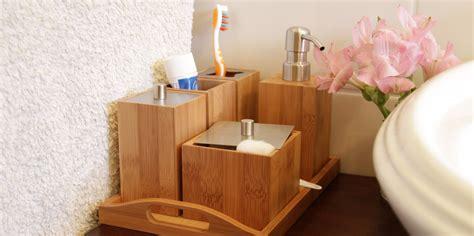 bamboo bathroom accessories set bathroom essentials set bamboo bathroom accessories