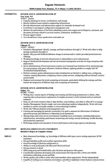 linux skills resume talktomartyb