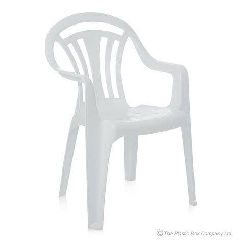 Plastic White Chairs by Buy White Plastic Garden Chair