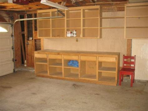 garage workbench and cabinet plans diy garage cabinets and workbenches