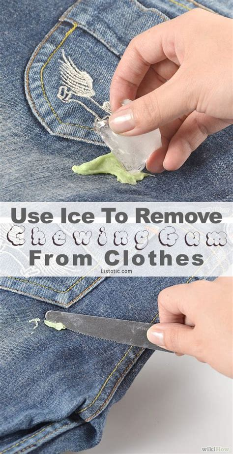Remove Gum From clothing hacks that you need to handy diy