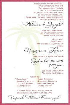 bridal shower gift theme wording honeymoon bridal shower invitation wording kinderhooktap