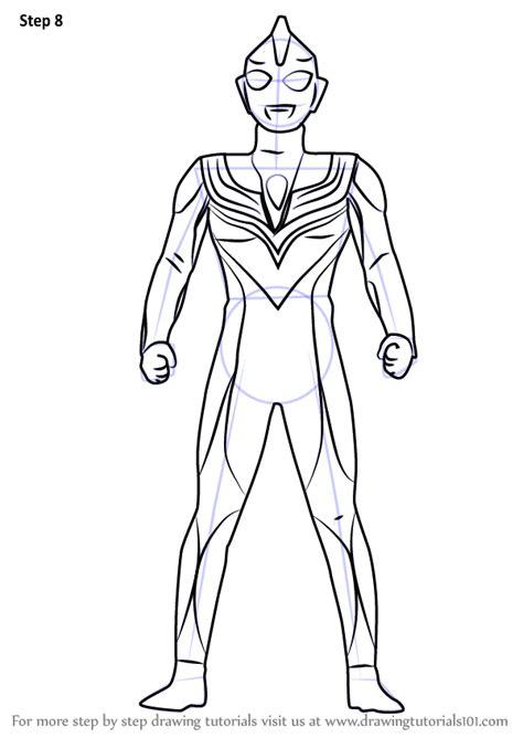 learn   draw ultraman tiga ultraman step  step