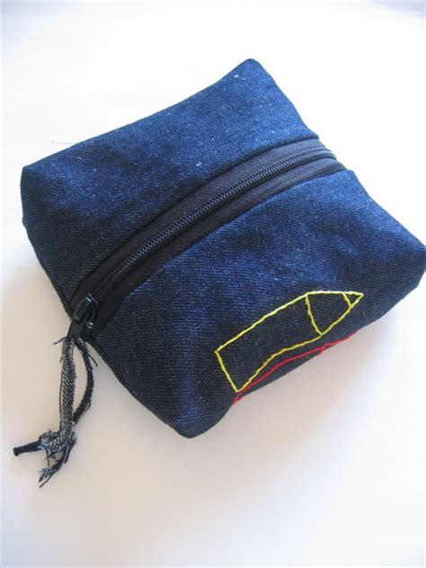 denim pencil case sewing projects burdastylecom