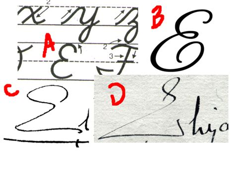 Did You Fact On Fendis Signature by How To Write A Capital E In Cursive Quora