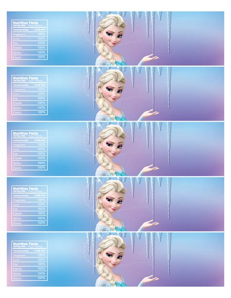 frozen printable melted snow free frozen water bottle labels royaltyinvitation