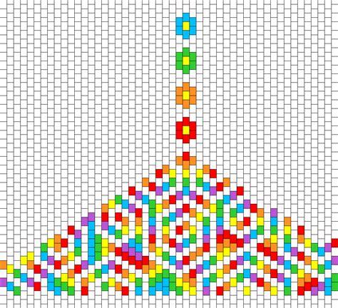 easy bead patterns rainbow flowers and spirals bead pattern peyote bead