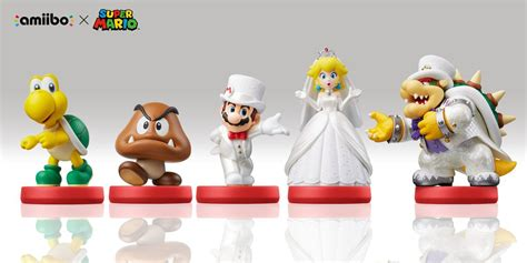 Amiibo Mario Wedding Mario Odyssey Series you ll want to these mario odyssey amiibo nintendo