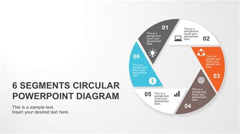 6 segments circular powerpoint diagram