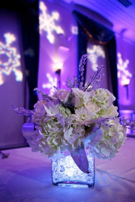 Centerpiece For A Quinceanera Sweet Winter Birthday Ideas Winter